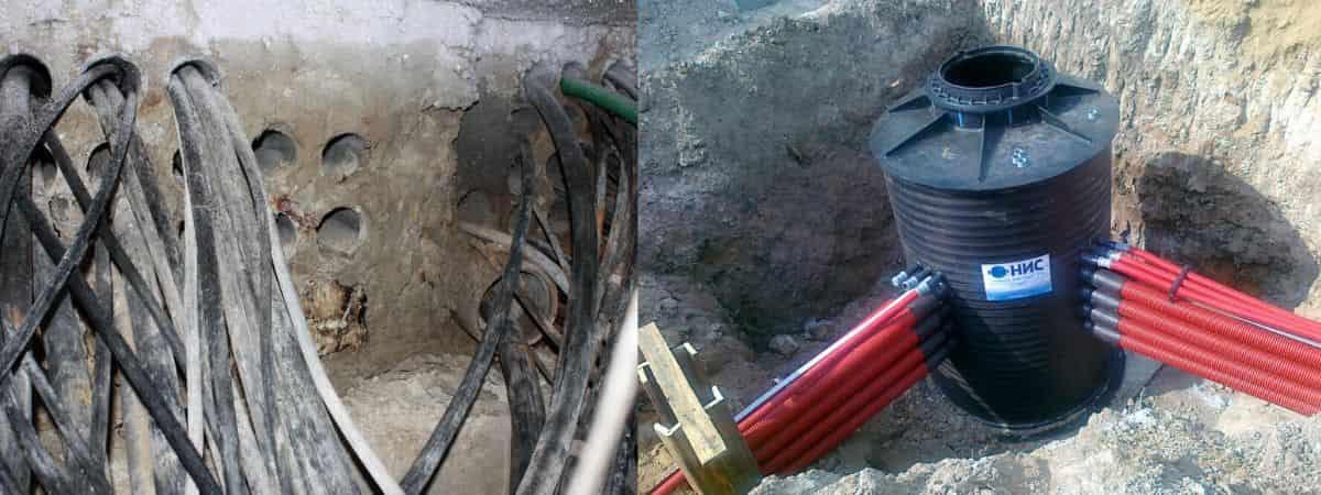 Прокладка кабеля в канализации: кабельной, телефонной, технология