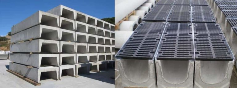 Железобетонные лотки для ливневой канализации: устройство Ж/Б, пластиковые, размеры