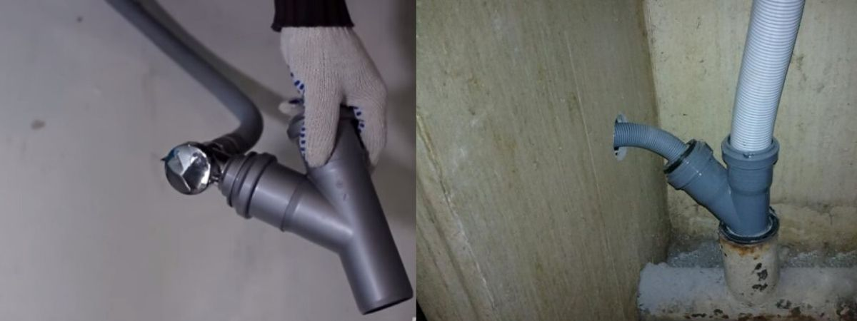 Обратный клапан для слива стиральной машины в канализацию