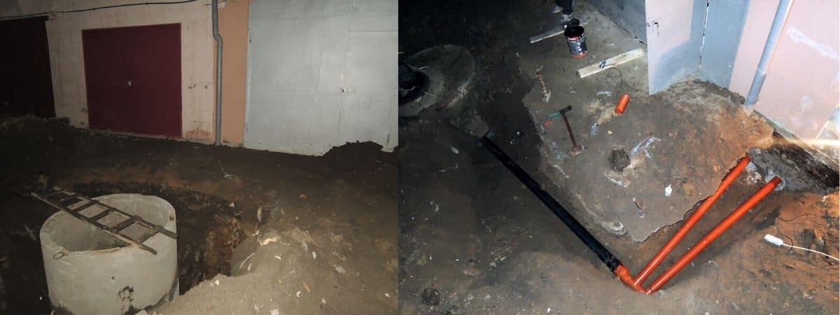 Канализация в гараже
