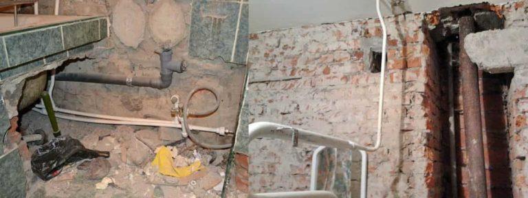 Отвод канализации от сталинского дома в колодец: ввод канализационной трубы, соединение труб