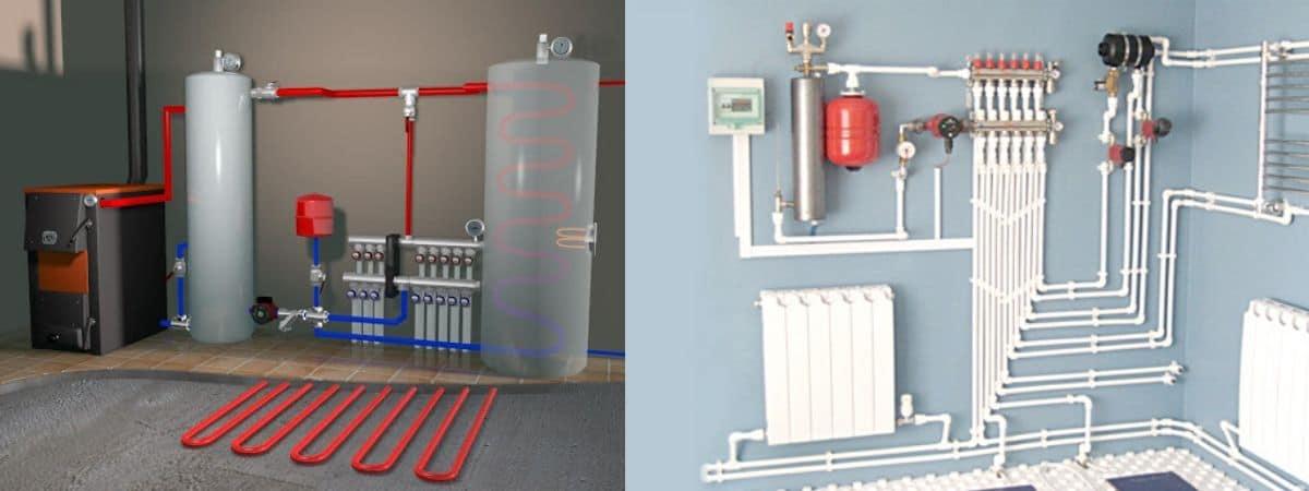 Отопление - канализация