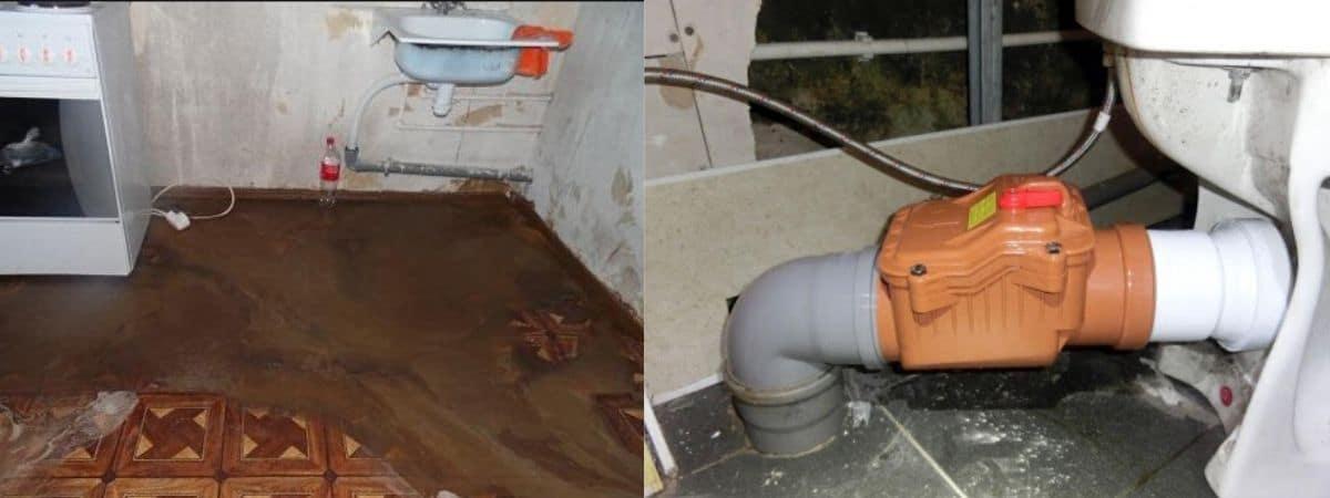 Затопило канализацией 1 этаж - что делать