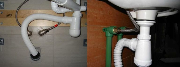 Слив с раковины в канализацию: узел отвода, порядок установки, обзор